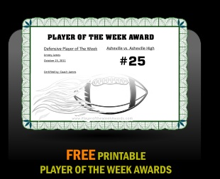 Free Printable Football Awards